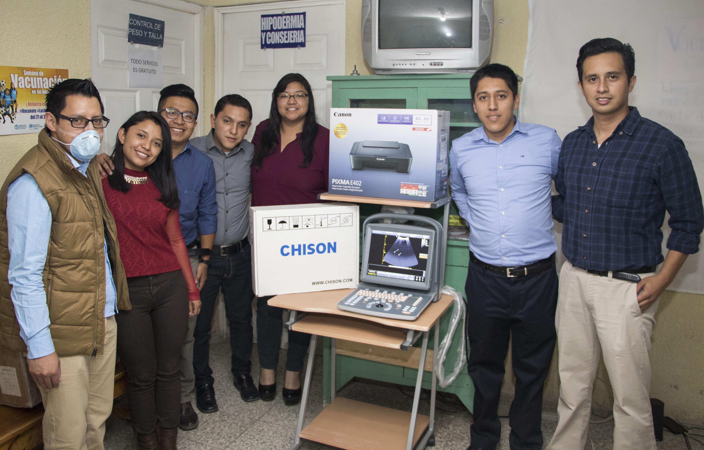 Donación de equipo de ultrasonido a Centro de Salud de Cantel