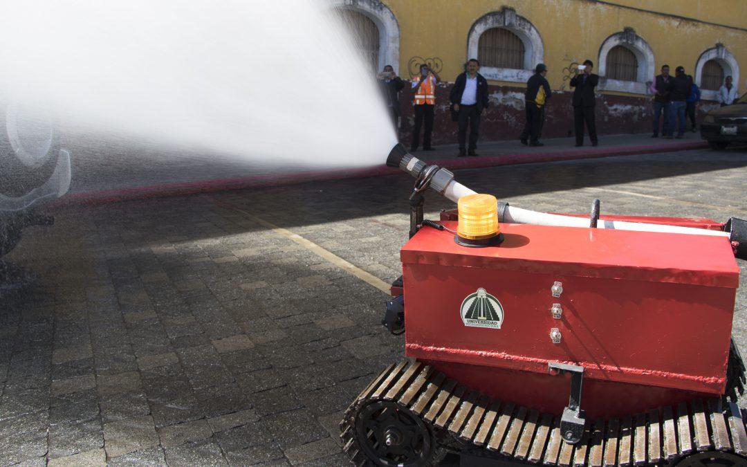 Proyecto 'Robot Bombero' es entregado a CVB