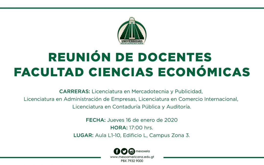 Reunión de Docentes de Facultad de Ciencias Económicas