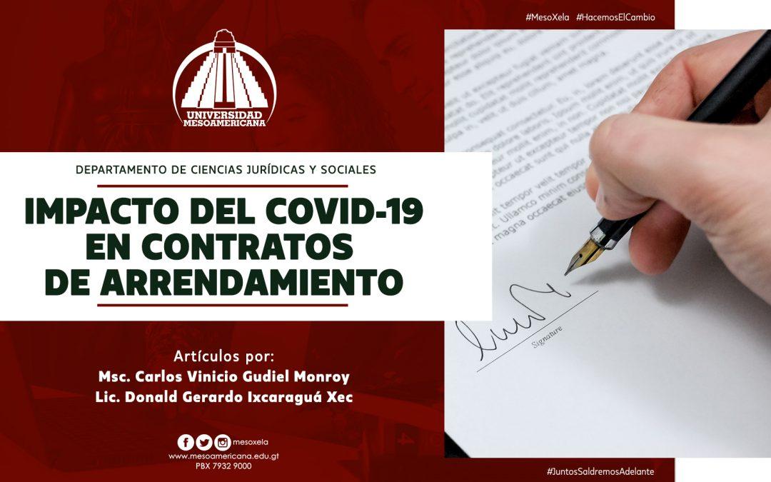 Impacto del COVID-19 en Contratos de Arrendamientos – Artículo
