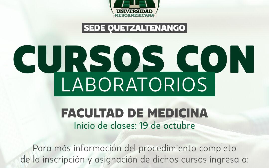 Cursos con Laboratorios, Facultad de Medicina