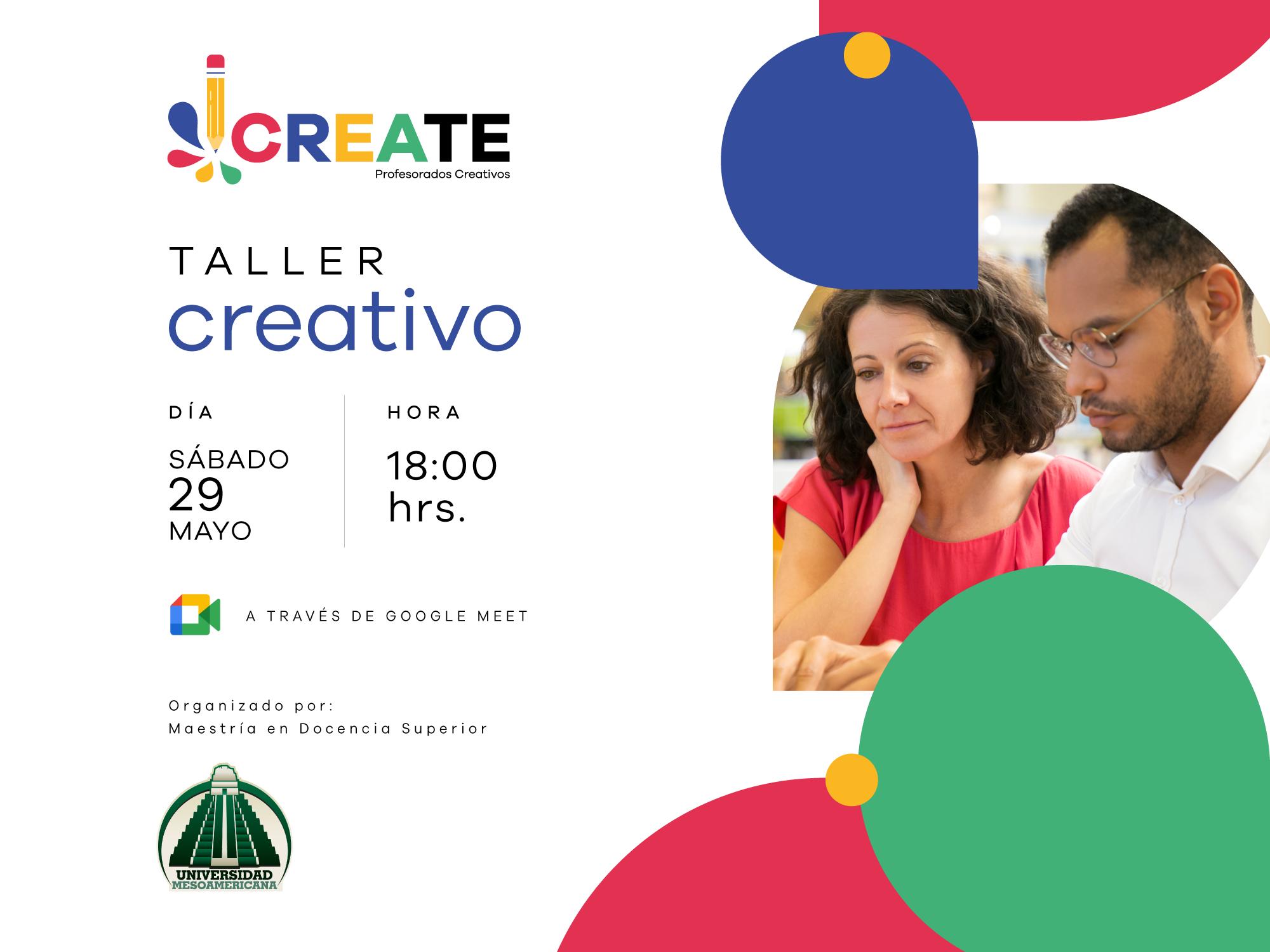 """Taller """"Create, Profesorados Creativos"""""""